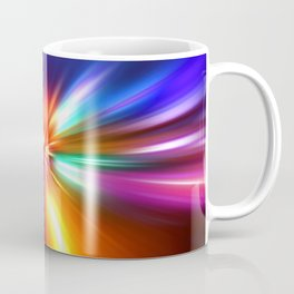 acceleration speed motion on night road Coffee Mug