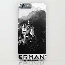 retro monochrome Germany retro poster iPhone Case
