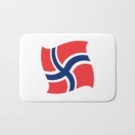 flag of norway 14 – Chalk version  snow,scandinavia,scandinavian,norwegian,oslo Bath Mat