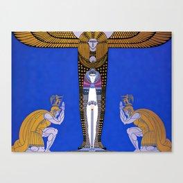 "Art Deco Orientalism ""Cleopatra"" Design Canvas Print"