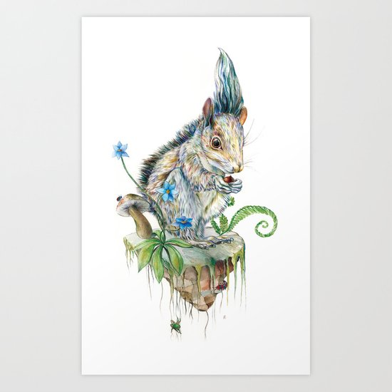 Squirrel Island Art Print