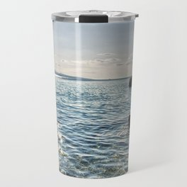 Seaside of Riviera Makarska in Croatia Travel Mug
