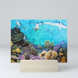 Shiver - Sharks in the Reef Mini Art Print