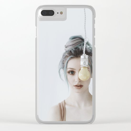 Yellow bulb Clear iPhone Case