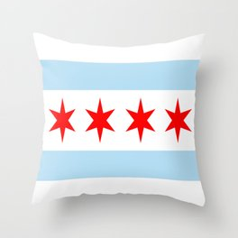 American cities-  Flag of  Chicago Throw Pillow