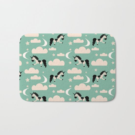 Unicorn green Bath Mat