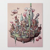 island Canvas Prints featuring Floating Island by Marija Tiurina