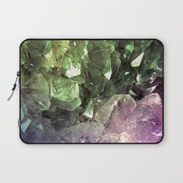 Two Tone Crystal Geode Laptop Sleeve