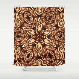 Fractal Filament Blast Pattern Shower Curtain