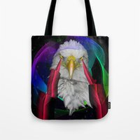 eagle Tote Bags featuring eagle by mark ashkenazi