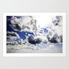 cloud-covered Art Print