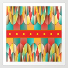 Superb colors Art Print