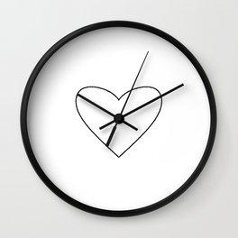 White Heart Wall Clock