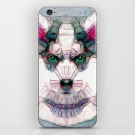 abstract husky puppy iPhone Skin