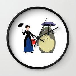 Mary Poppin and umbrela Wall Clock