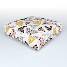 Moth's Diverse Beauty Pattern Outdoor Floor Cushion