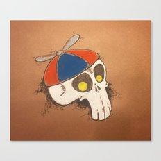 Propeller Skull Canvas Print