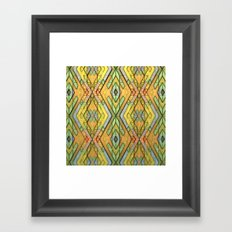 Deco Diamonds Framed Art Print