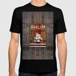 And a Barrel of Rhum - Retro Rhum over Wood T-shirt