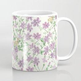 Winter Blooms Pattern Coffee Mug