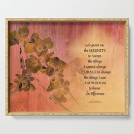 Serenity Prayer Quince and Fence One Serving Tray