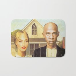 Bey and Jay Survey their Land Bath Mat