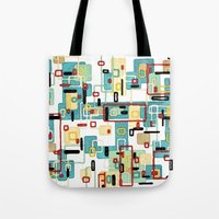 mod Tote Bags featuring Mod by Tina Carroll