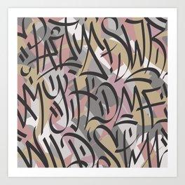 graffiti tag Art Print
