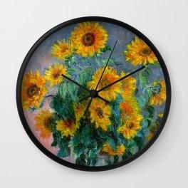 Bouquet of Sunflowers - Claude Monet Wall Clock