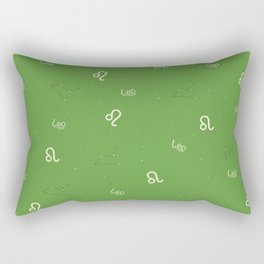 Leo Pattern - Green Rectangular Pillow