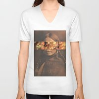 native V-neck T-shirts featuring Native by Djuno Tomsni
