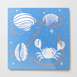 Clam, Crab, Cockle, Cowrie Metal Print