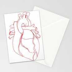 Anatomical heart Stationery Cards
