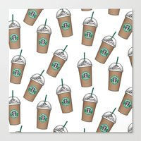 starbucks Canvas Prints featuring Starbucks by eARTh