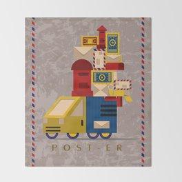 Postman's Post-er poster Throw Blanket