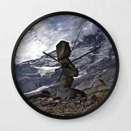 Mountain Cairn Wall Clock
