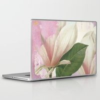magnolia Laptop & iPad Skins featuring magnolia by clemm