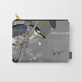 Black-crowned Night-Heron Infographic Carry-All Pouch