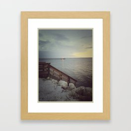 Path To Somewhere Framed Art Print