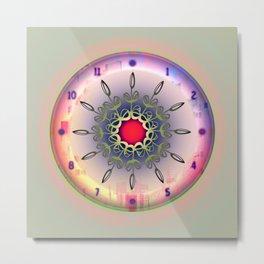 Time - Floral Clock Metal Print
