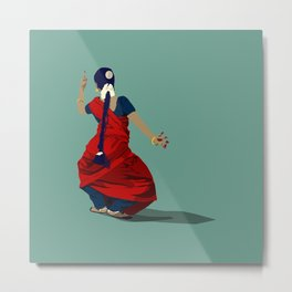 Indian Classical Dancer Pose I Metal Print