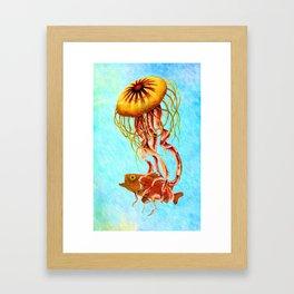 Ocean Jellyfish – Painting – by Liane Wright Framed Art Print