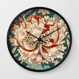 Honeysuckle (1876) by William Morris, Abstract I Poster Wall Clock