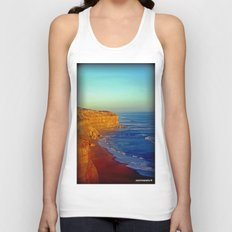 Sunsets on the limestone Cliffs Unisex Tank Top