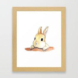 Blinking eyes are staring at you Framed Art Print