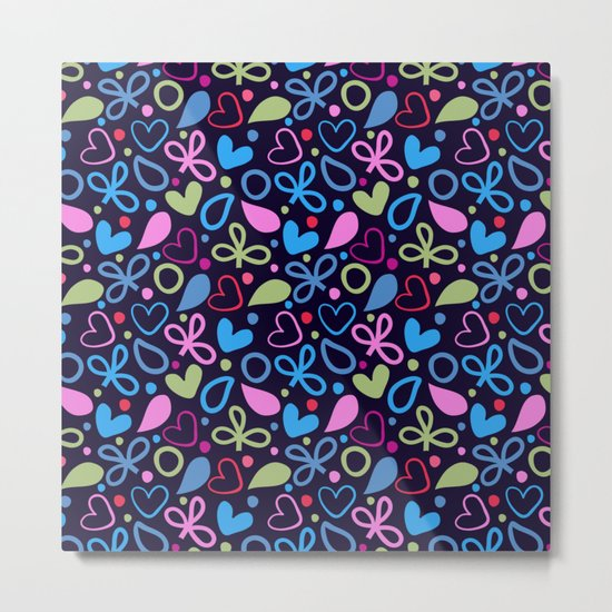 Colorful Lovely Pattern XVIII Metal Print
