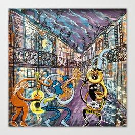 French Quarter Street Musicians Canvas Print
