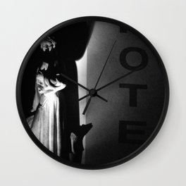 Hotel in the Night Wall Clock