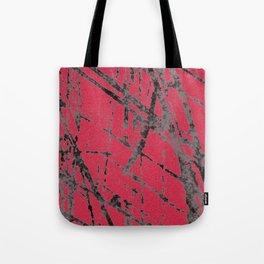 red black scratchy grunge Tote Bag