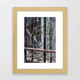 Broken Glass - Blight of Detroit Framed Art Print